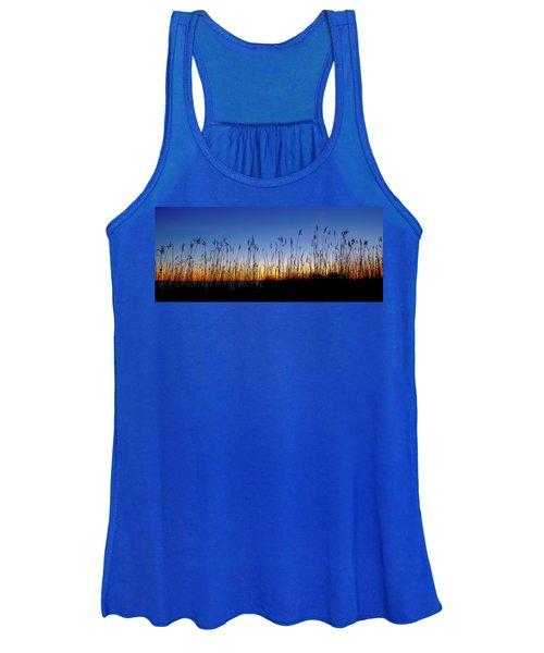 Marsh Grass Silhouette  Women's Tank Top