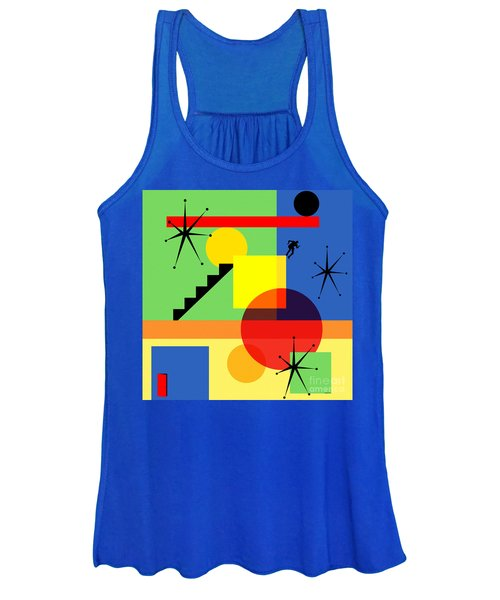 Mid Century Modern Abstract Over The Edge 20190106 Square Women's Tank Top
