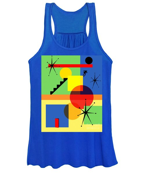 Mid Century Modern Abstract Over The Edge 20190106 Women's Tank Top