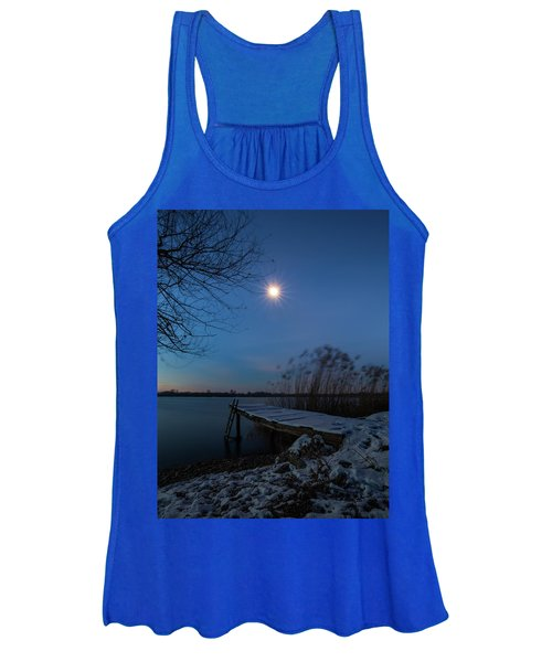 Moonlight Over The Lake Women's Tank Top