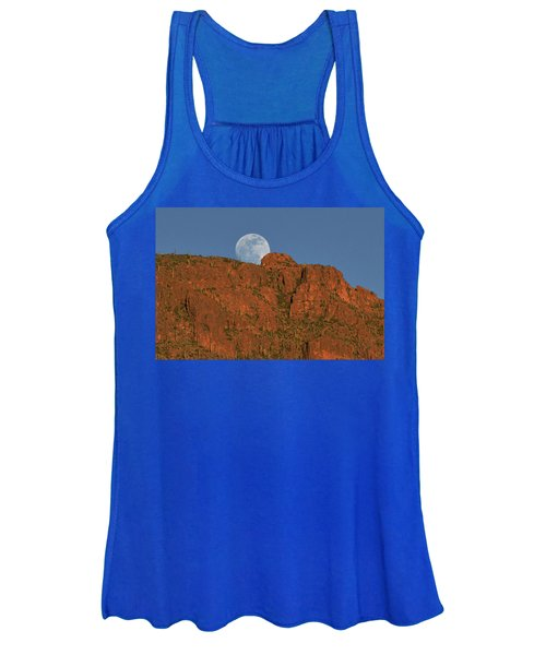 Moonrise Over The Tucson Mountains Women's Tank Top