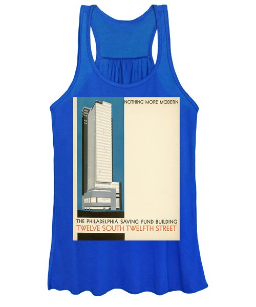 Nothing More Modern The Philadelphia Savings Fund Society Building, 1932 Women's Tank Top