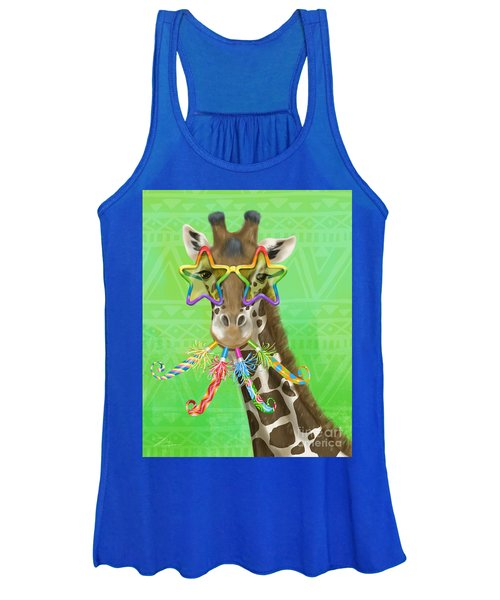 Party Safari Giraffe Women's Tank Top
