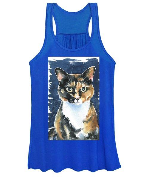 Poppy Calico Cat Painting Women's Tank Top