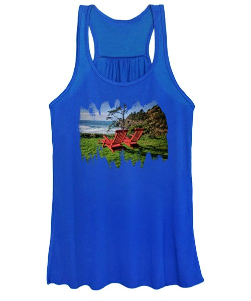 Red Chairs At Agate Beach Women's Tank Top