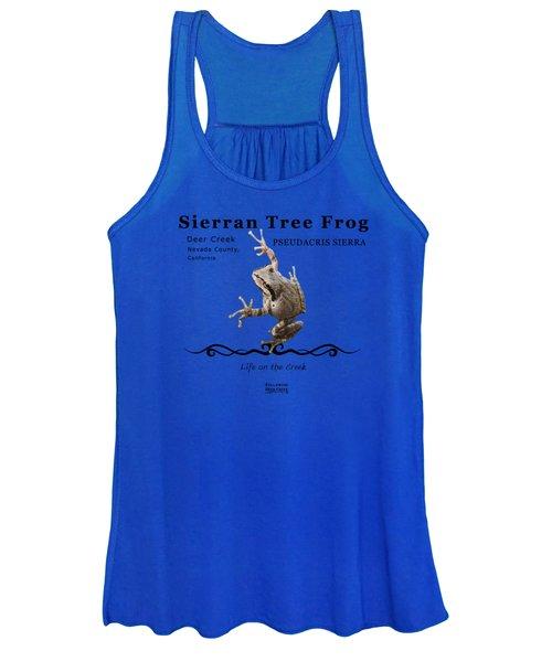 Sierran Tree Frog Pseudacris Sierra Women's Tank Top