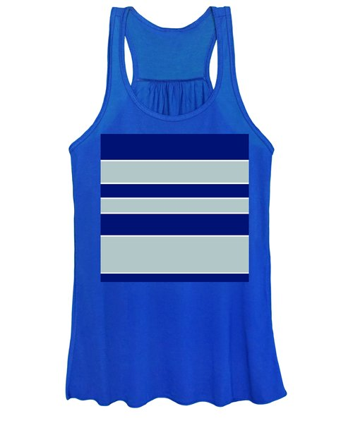 Stacked - Navy, Grey, And White Women's Tank Top
