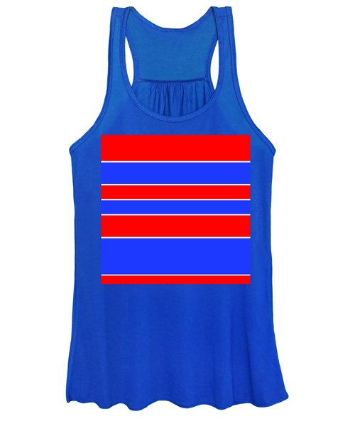 Stacked - Red, White And Blue Women's Tank Top
