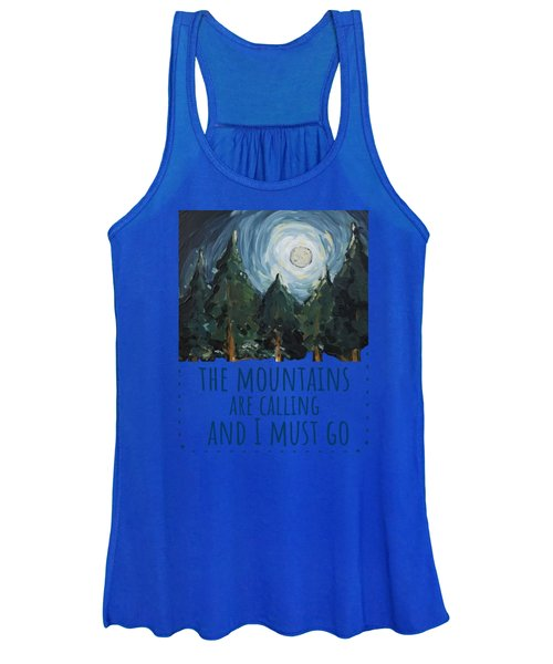 The Mountains Are Calling Women's Tank Top