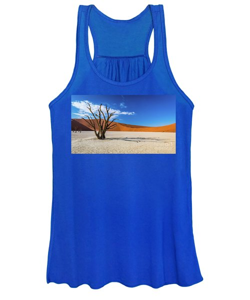 Tree And Shadow In Deadvlei, Namibia Women's Tank Top