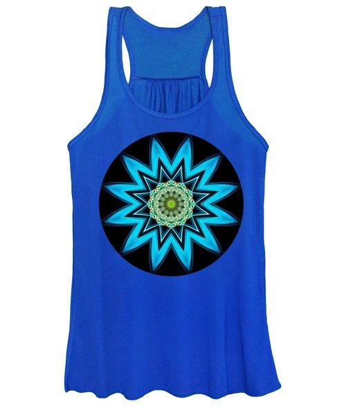 Turquoise Star Women's Tank Top