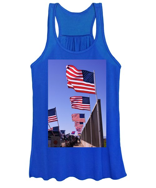 U.s. Flags, Presidents Day, Central Valley, California Women's Tank Top
