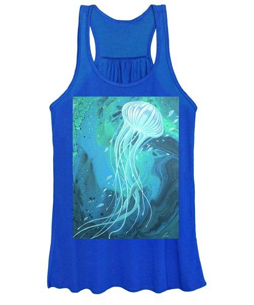 White Jellyfish Women's Tank Top