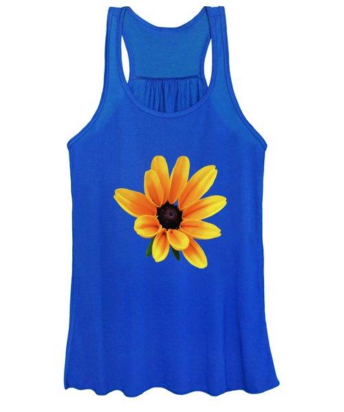 Yellow Flower Black Eyed Susan Women's Tank Top