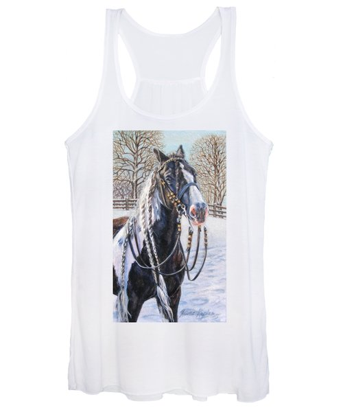 I'm Ready For The Ribbons Gypsy Vanner Horse Women's Tank Top