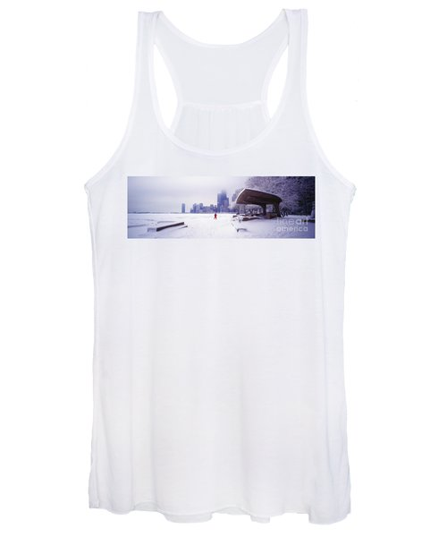 North Ave Beach Chess Palv Chicago Lake Front  Women's Tank Top