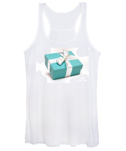 Little Blue Gift Box Women's Tank Top