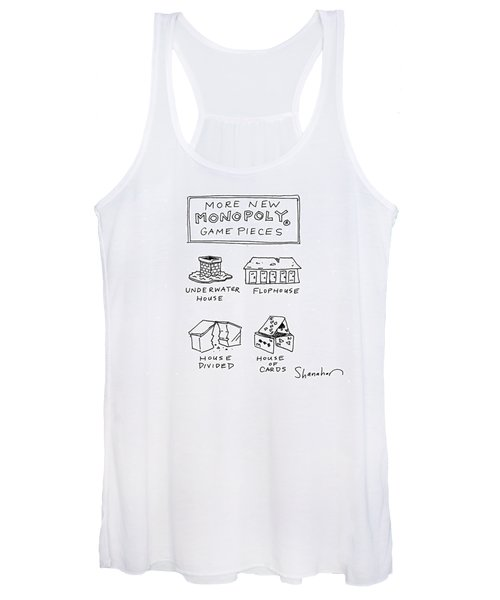 More New Monopoly Game Pieces Women's Tank Top