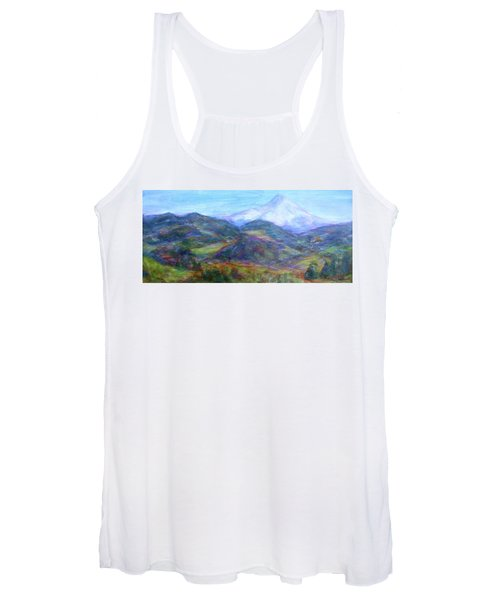 Mountain Patchwork Women's Tank Top