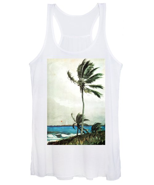 Palm Tree Nassau Women's Tank Top