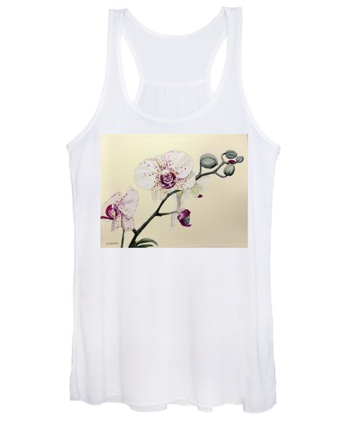 Phalaenopsis Black Panther Orchid Women's Tank Top