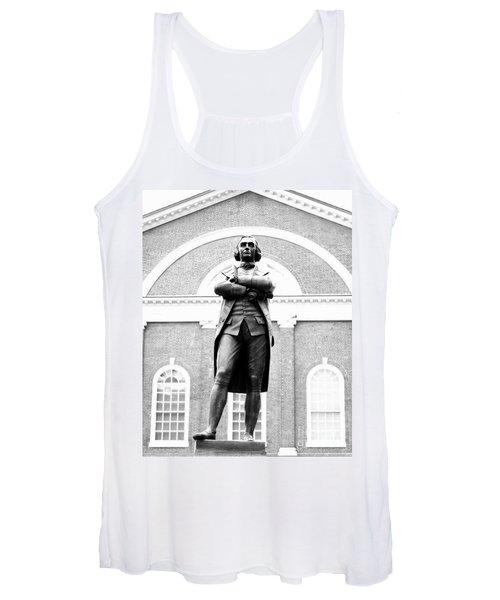 Samuel Adams Statue, State House Boston Ma Women's Tank Top