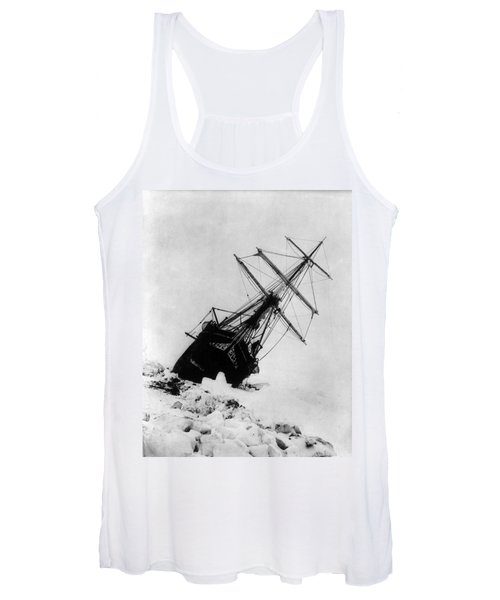 Shackletons Endurance Trapped In Pack Women's Tank Top