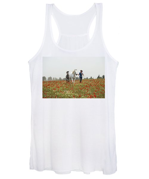 Three At The Poppies' Field... 3 Women's Tank Top