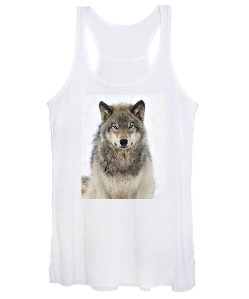 Timber Wolf Portrait Women's Tank Top