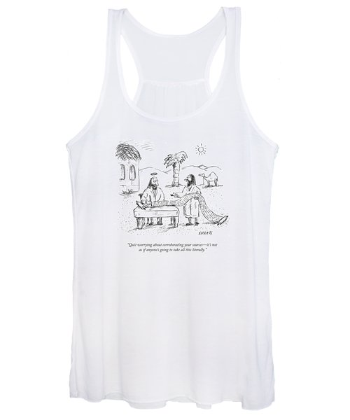 Quit Worrying About Corroborating Your Sources - Women's Tank Top