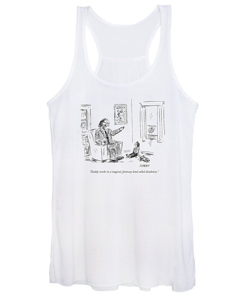 Daddy Works In A Magical Women's Tank Top
