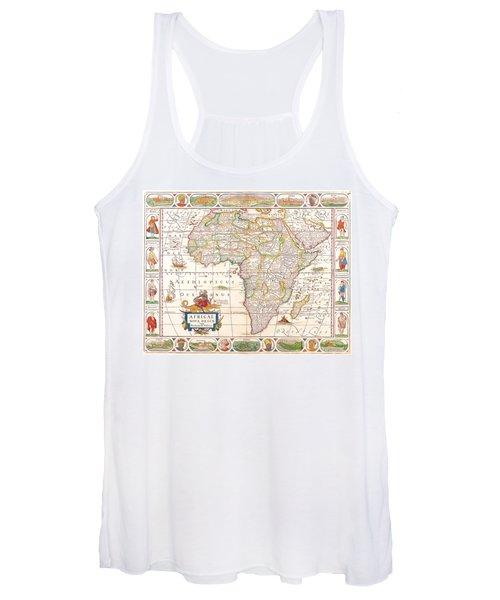1658 Antique Africa Map Women's Tank Top