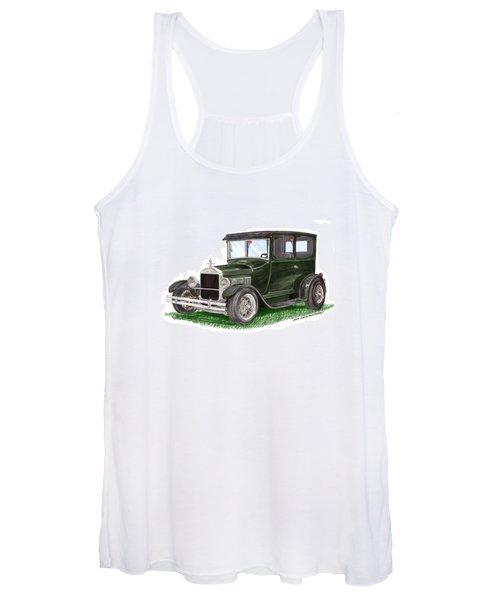 1926 Ford Tudor Sedan Street Rod Women's Tank Top