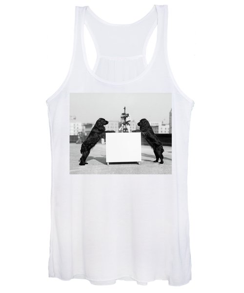 1930s Two Black Cocker Spaniels Women's Tank Top