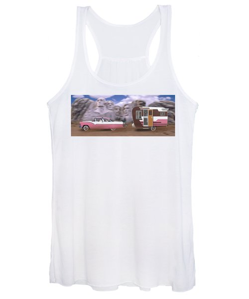 1950s Family Vacation Panoramic Women's Tank Top