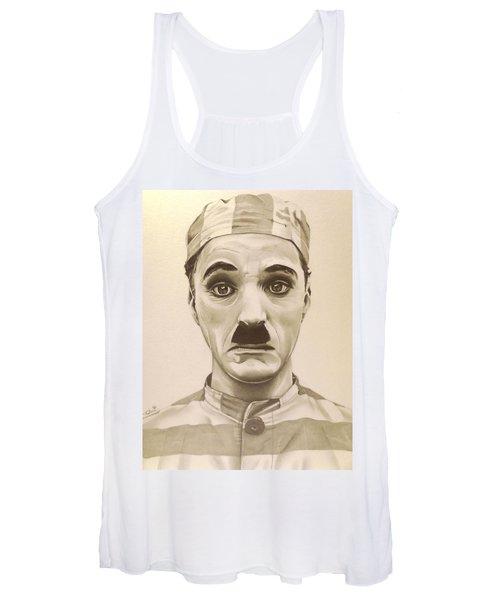Vintage Charlie Chaplin Women's Tank Top