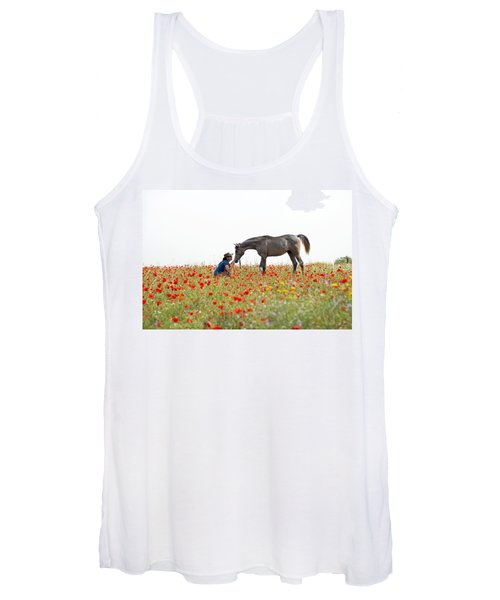 Three At The Poppies' Field... 4 Women's Tank Top