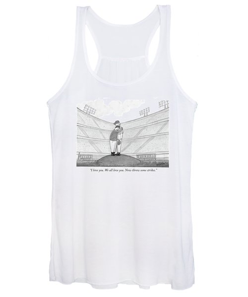 I Love You. We All Love You. Now Throw Some Women's Tank Top
