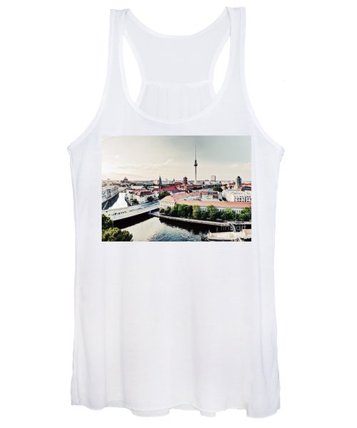 Berlin Germany View On Major Landmarks Women's Tank Top