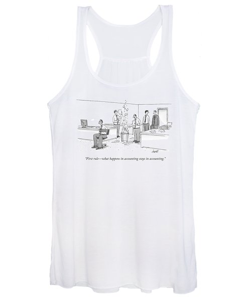 First Rule - What Happens In Accounting Stays Women's Tank Top