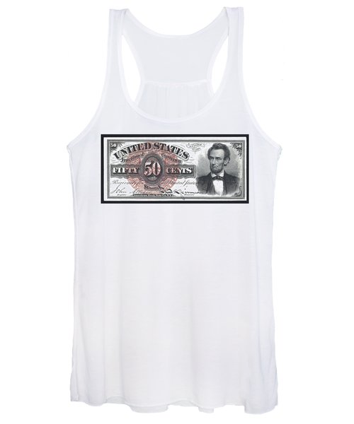 50 Cent Lincoln Bill  1863 Women's Tank Top