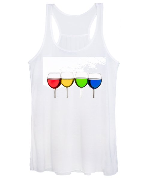 Colorful Wine Glasses Women's Tank Top