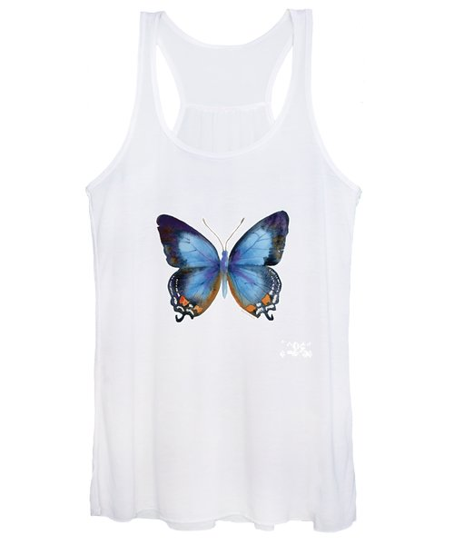 80 Imperial Blue Butterfly Women's Tank Top