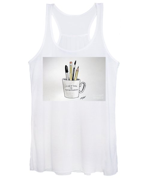 A Cup Of Tools To Express Freedom Women's Tank Top