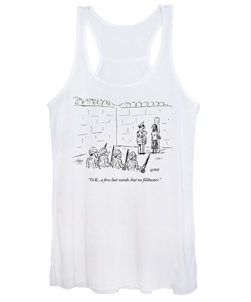 A Few Last Words But No Filibuster Women's Tank Top