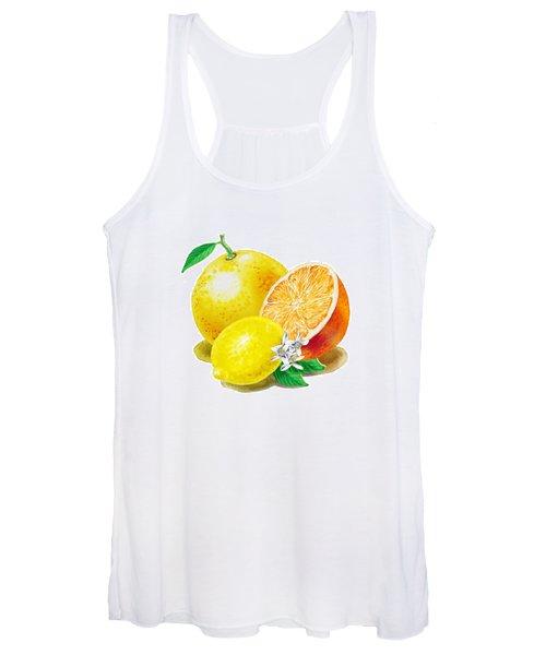 A Happy Citrus Bunch Grapefruit Lemon Orange Women's Tank Top