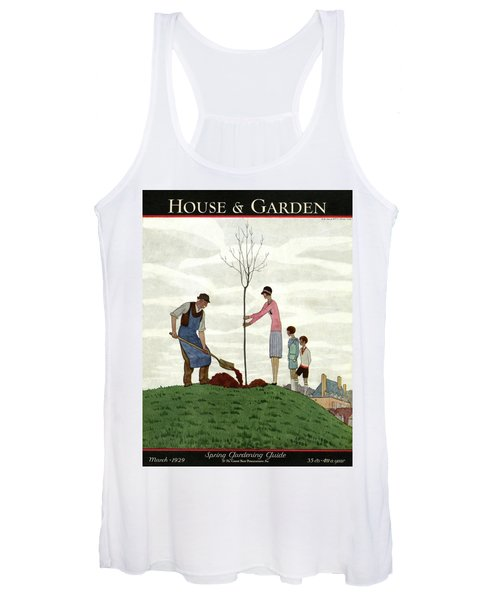 A House And Garden Cover Of People Planting Women's Tank Top