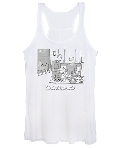 A Man And Wife Stand In The Kitchen Women's Tank Top