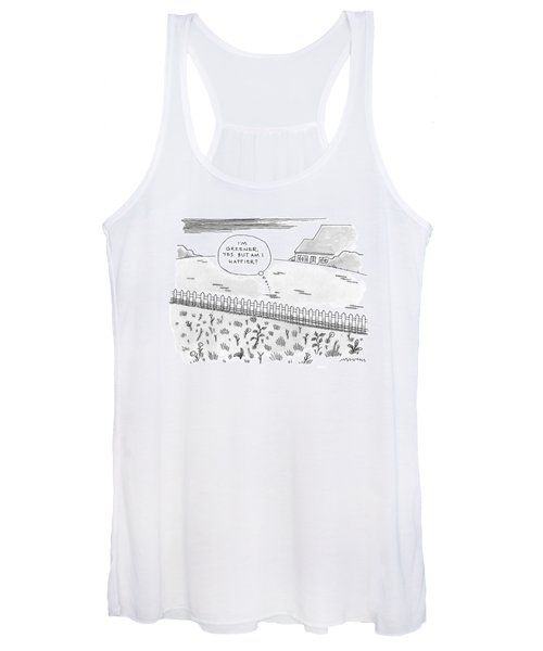 A Plot Of Grass Is Seen To Reflect As It Sits Women's Tank Top