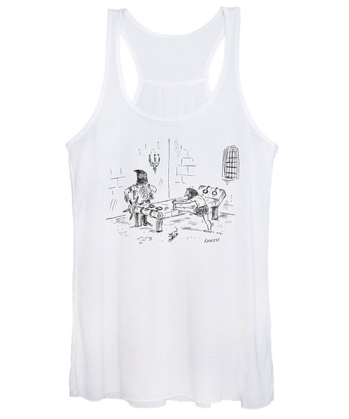A Prisoner Is Seen Stretching On A Torture Rack Women's Tank Top